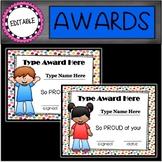 Editable Awards: Kids