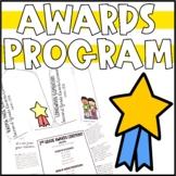 Editable Awards Ceremony Program Template