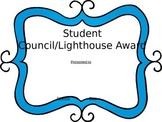 Editable Awards Student Council/ Lighthouse Team