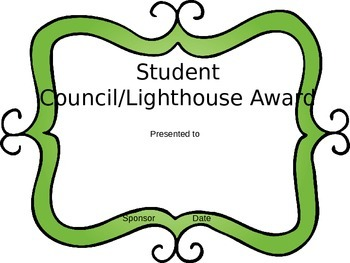 Editable Awards Student Council/ Lighthouse Team