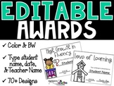 BUNDLED SET - Editable Awards and Certificates (End of the Year)