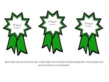 Editable Awards and Flash Cards