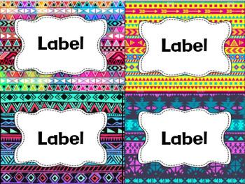 Editable Aztec Classroom Labels