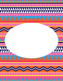Editable Aztec Printable Binder Cover 1