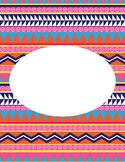 Editable Aztec Printable Binder Cover 1