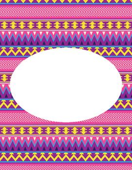 Editable Aztec Printable Binder Cover 3