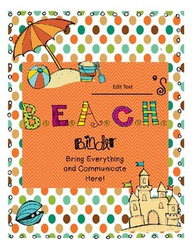 Editable BEACH Binder
