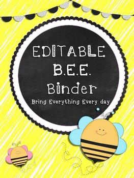 Editable B.E.E. Binder