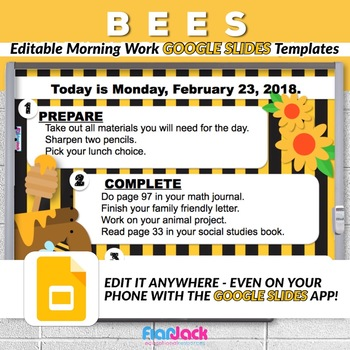 Editable BEES GOOGLE SLIDES Templates