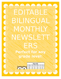 Editable BILINGUAL Newsletter