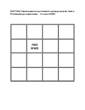 Editable BINGO boards