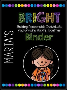Editable BRIGHT Binder Covers