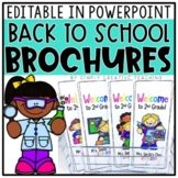 Editable Back To School Brochures