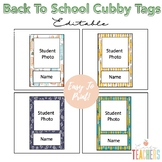 Editable Back To School Cubby Tags