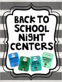 Editable Back To School Night/Open House Centers