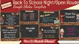 Editable Back To School Night Open House Google Slides Template
