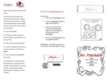Editable Back-To-School Night Tri-Fold