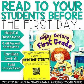 Editable Back To School QR Code Tags