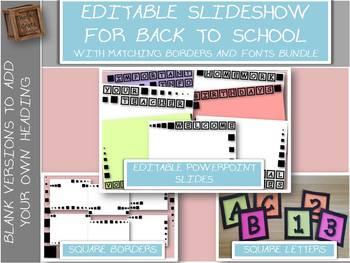 Editable Slideshow for Curriculum night, Meet the Teacher, Open House