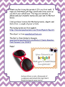 Editable Back To School Student Gift Idea- Sunglasses
