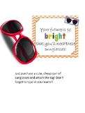 Editable Back To School Student Gift Idea- Sunglasses