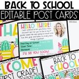 Editable Back To School Teacher Postcards
