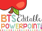 Editable Back To School/Open House Powerpoint