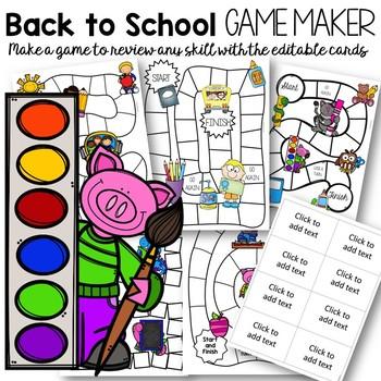 Editable Back to School Games