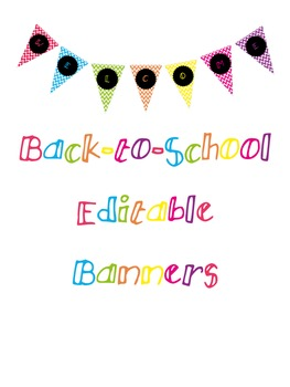 Editable Back-to-School Banner Freebie!