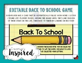 Editable Back to School Board Game!
