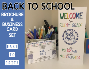 Editable Back to School Brochure and Business Card