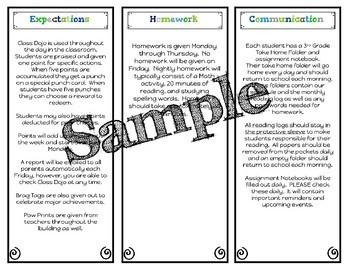 Editable Back to School Brochures