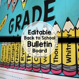 Editable Back to School Bulletin Board Display