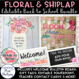 Editable Back to School Bundle (Floral and Shiplap)