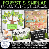 Editable Back to School Bundle (Forest and Shiplap)