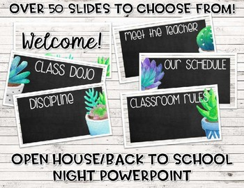Editable Back to School Bundle (Succulent and Shiplap)