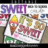 Editable Back to School Cards Ice Cream