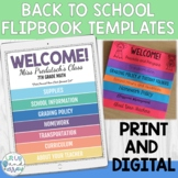 Editable Back to School Flipbook