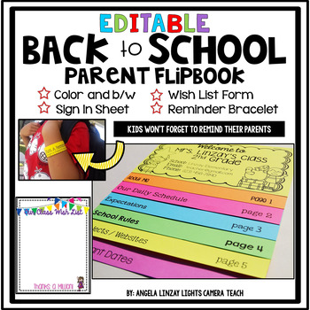 Editable Back to School Flipbooks, Forms, and Reminders...Oh My!