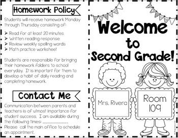 Editable Back to School Foldable {English & Spanish}