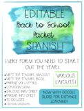 Editable Back to School Forms & Meet the Teacher Packet Wi