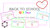 Editable Back to School Gift Tags - It's Going to be a Bright and Colourful Year