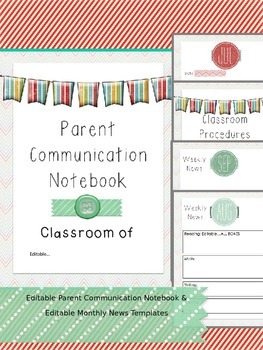 Editable Back to School Information Packet & Monthly Newsletter Templates