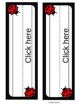 Editable Back to School Ladybug Decor Pack