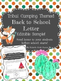 Editable Back to School Letter Sample