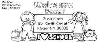 Editable Back to School Letter and Envelope Template