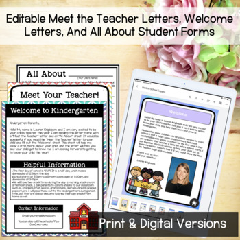 Editable Back to School Letters and Forms