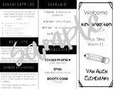 Editable Back to School, Meet the Teacher Night Information Brochure
