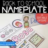 Editable Back to School Nameplates