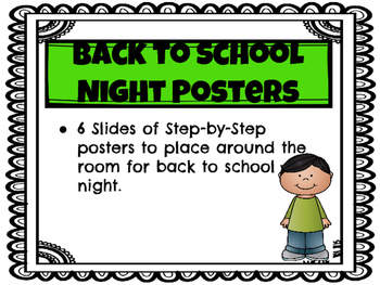 Back to School Night Posters